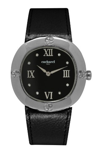 cacharel-cld-aa-006-womens-quartz-analogue-watch-black-face-black-leather-strap