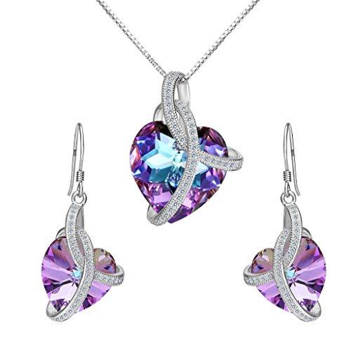 Clearine donna set collana e orecchini swarovski e argento