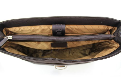 Cartable Gérard Henon New Styl' nylon garni cuir 1 soufflet GH 2370 Marron