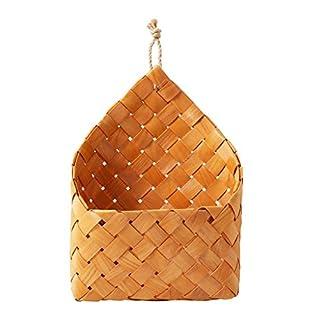 Awhao Handgefertigter Korb aus geflochtenem Korb aus natürlichem Korb zum Aufhängen, für Haus und Garten, Wanddekoration für Hochzeit