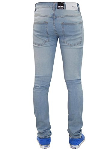 Men G72 Zip Fly Stretch Skinny Slim Fit Biker Denim Jeans Pantalon en coton déchiré 02-Stone Wash