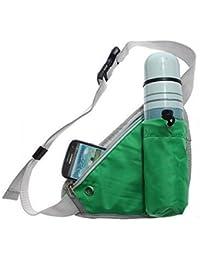 Dhruheer Outdoor Travel Waist Bottle Holder Bag Men Women Sports Kettle Waist Pack Fanny Pack Chest Belt Bag