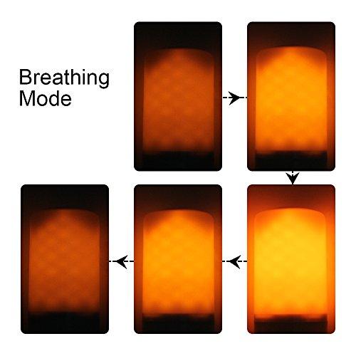 binen LED efecto llama fuego luz bombillas, Vintage atmósfera decorativa lámparas 3modos emulación de Creative, con vela lámparas E27