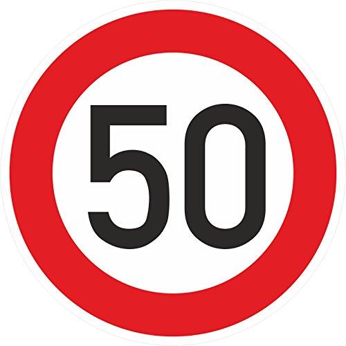 Geburtstagschild 50 Verkehrszeichen Verkehrsschild Straßenschild Schild PVC 40 cm
