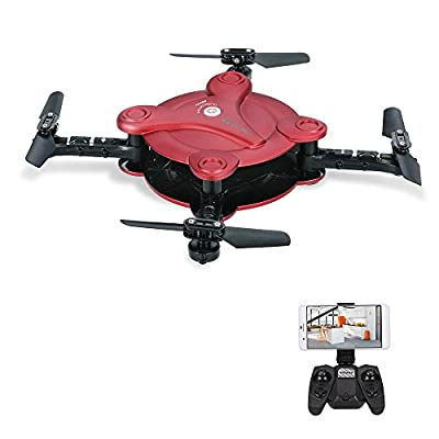 Goolsky FQ777 FQ17W 6-Axis Gyro Mini Wifi First Person View Foldable G-sensor Pocket Drone with 0.3MP Camera Altitude Hold RC Quad-copter