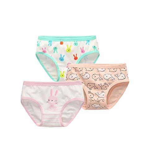Babyicon 3 Stück Mädchen Kinder Unterwäsche Unterhosen Baumwolle Trainerhosen (90-100cm (6-12 Monate), B) (Stück Kirsche 9)