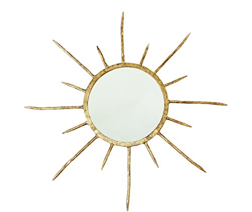 Mud Pie Dekorativer Spiegel, goldfarben, 60 cm, Einheitsgröße Glam Pie