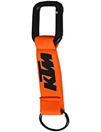 Faynci Premium Quality Fabric KTM Bike Logo Orange Hook Key Chain For Bike Lover