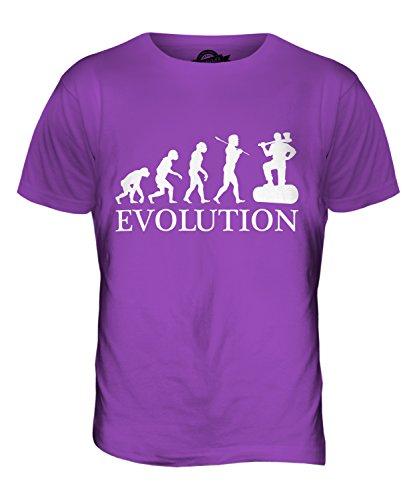 CandyMix Holzfäller Evolution Des Menschen Herren T Shirt Violett