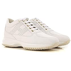 Hogan Interactive Zapatillas zapatos sneaker sneakers shoes de Caucho para Mujer Woman Blanco White Size 38 EU