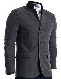 FLATSEVEN Slim Fit Veste Blazer Casual Tissu Gaufré Homme