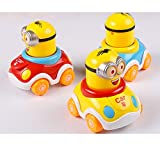 #6: Grab Offers Early Education Adorable Cute Bright Color Moving Bonnet Mini Car with Moving Cartoon1 Year Old Baby Push and Go Toy Unbreakable Friction Car for Kids.(Random Color) (Boys - 1 Pcs)