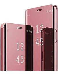 Kompatibel Mit Huawei P30 Pro Hülle, Clear View Cover Spiegel PC Flip Case Handyhüllen für Huawei P30 Etui mit Standfunktion 360 für P30 Lite Schutzhülle