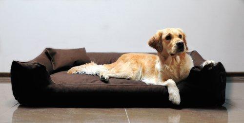 tierlando® M3-C-01 Hundebett MORITZ aus robustem CODURA Hundesofa Hundekorb Gr. M 80cm BRAUN