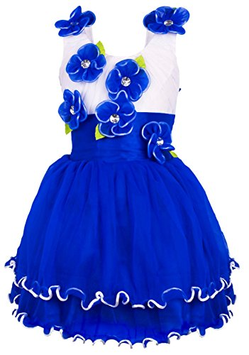 My Lil Princess Blue Floral Frock_Net Fabric_1 to 1.5 Years