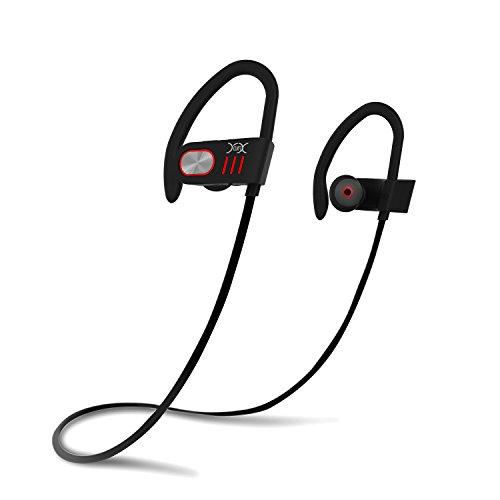 YXwin Auriculares Bluetooth Audifonos Bluetooth Almohadillas Inalambricos Portatil Cancelación del Ruido Headphones para Deporte (Rojo)