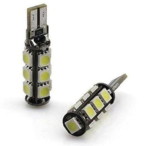 INION® XENON WEISSE Standlicht Standleuchte 2 x W5W T10 mit 13-SMD / LED KALT - WEISS * CANBUS * Positionslicht KFZ Autolampe