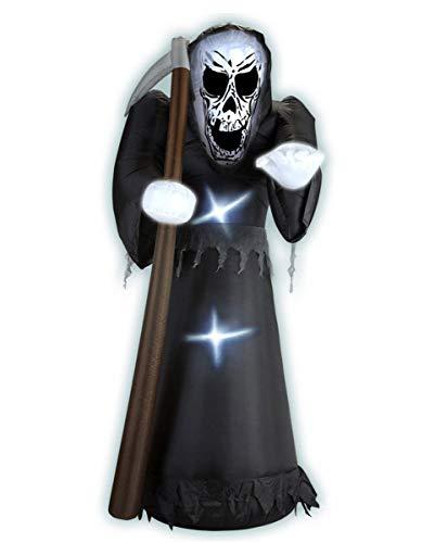 Horror-Shop Aufblasbare Halloween Deko Gevatter Tod   ca. 122cm