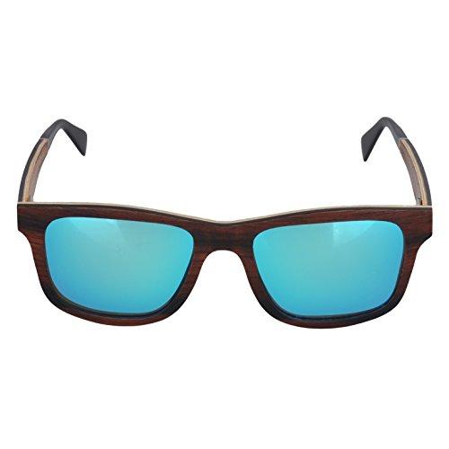 NOVEL Sonnenbrille | UV400-Schutz | Ebenholz | Polarisierte Gläser | inkl. Etui mit Microfasertuch | Farbe: Braun