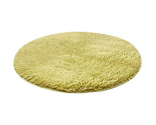 Alfombras Redondas Super Suave Sala de Estar Dormitorio Baño Sofá Alfombra Pasto Verde 100 * 100CM