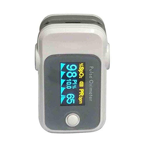 Saturimetro da dito Pulsossimetro portatile con display OLED Monitoraggio anti-interferenze Misuratore del tasso di ossigeno nel sangue Smart Power Saving Medical Home