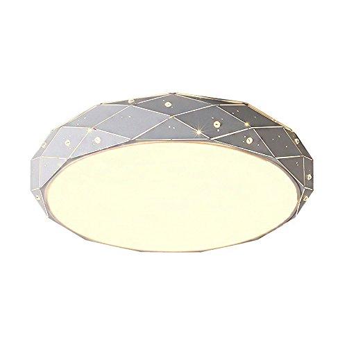 36W LED Warmweiß Sternenlicht Deckenleuchte Starlight Diamant Form Deckenleuchte SternenΦ450*100mm Modern Rhombus Design Lampe Runde Romantische Wohnzimmer Lichter (36W Warmweiß)