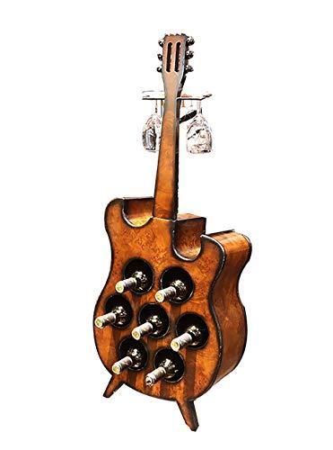 Kreative Violine Gitarre Montage Weinregal Flaschenregal Verkaufsständer 2 lange Stiel Halterung Glas Aufbewahrung Organizer Racks Ständer für Dekoration für Zuhause Modern L bronze