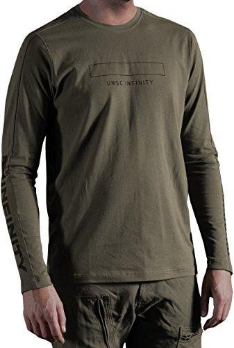 Musterbrand-Halo-Langarm-T-Shirt-Herren-Catapult-UNSC-Grn