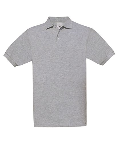 BCPU409 Polo Safran / Unisex Heather Grey