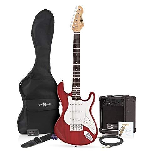Chitarra Elettrica LA 3/4 + Pacchetto con Amplificatore Wine Red