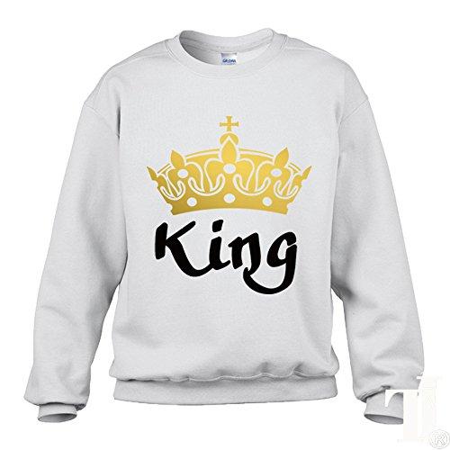 TEESHIRT JUNKIES - Sweat-shirt - Graphique - Femme noir noir Small WHITE KING