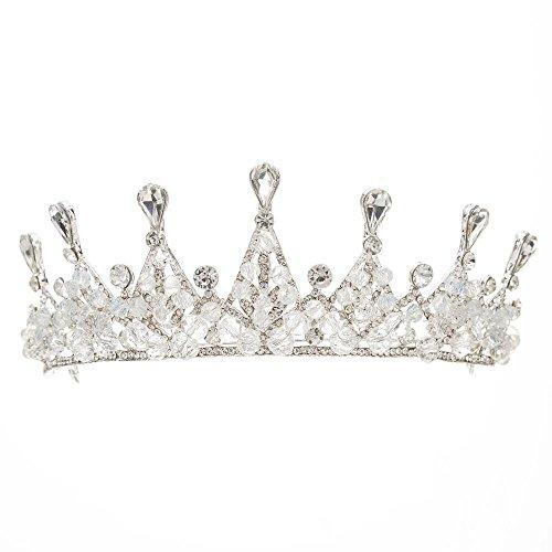 Meilandeng Diadem Braut Haarschmuck Exquisit Braut Hand Krone Kopfschmuck Kopf Reifen Haarschmuck -