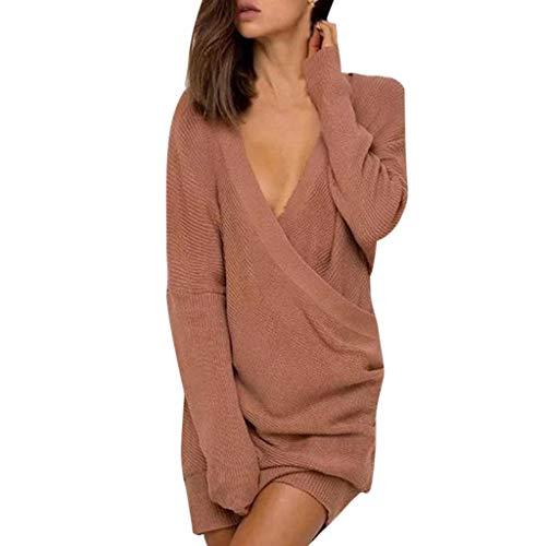 Damen Lose Asymmetrisch Jumper Sweatshirt Pullover Bluse Oberteile Oversize Tops Sexy tiefem...
