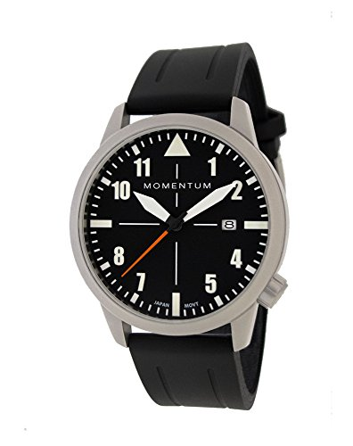 Momentum Men's Analog Automatic-self-Wind Watch with Rubber Strap 1M-SN92BS1B