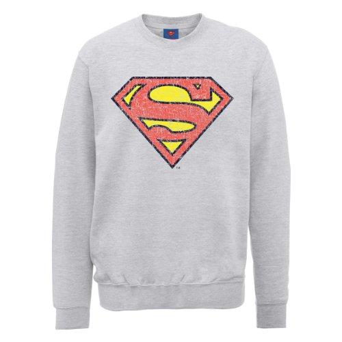 DC Comics Herren Sweatshirt Erika-Grau