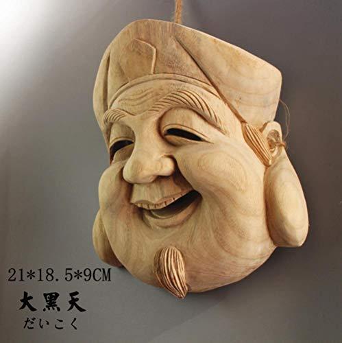 WDDqzf-Ornaments Escultura Figurilla Madera Japonesa