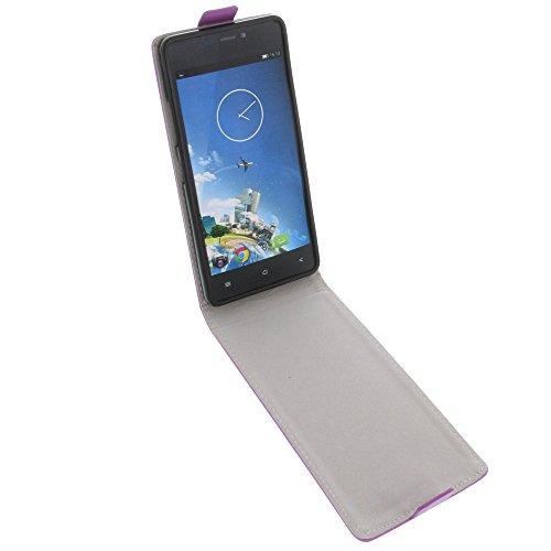 foto-kontor Tasche für Kazam Tornado 348 Smartphone Flipstyle Schutz Hülle lila