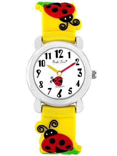 Pacific Time Mädchen Uhr analog Quarz mit Silikonarmband 21444