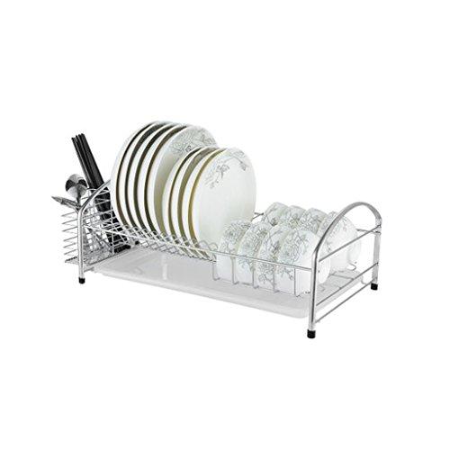 304 Edelstahlabtropfgestell, einzelner Essstäbchenhalter, auslaufender Geschirrständer des einzelnen Geschirrs, Küchetropfenfängerzahnstangenwand, Speichertrockengestell, Multifunktionsheimspeicher große Kapazität, passend für Küche, Familie, Restaurant und so weiter.