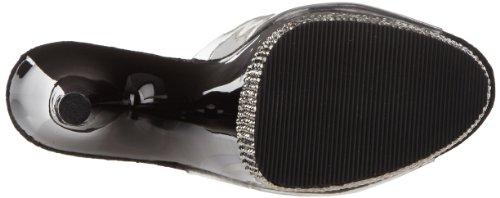 Pleaser Adore-701-3, Sandales  Bout ouvert femme Noir - Negro (Negro (Clr/Blk-Pewter))