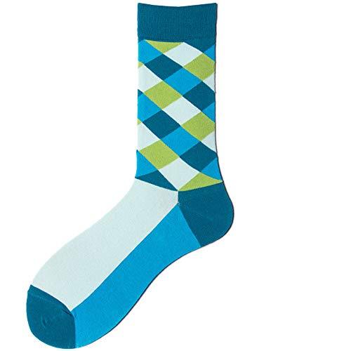 Baumwoll-nylon-sport-socken (Männer Und Frauen Socken, Farbe Block Persönlichkeit Lange Röhre Sportsocken Im Freien Sport Baumwolle Atmungsaktive Socken 10 Paar,D)