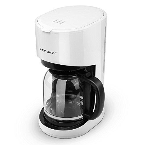 Aigostar Basic Black &White - Máquina de café, 1000W cafetera de filtro