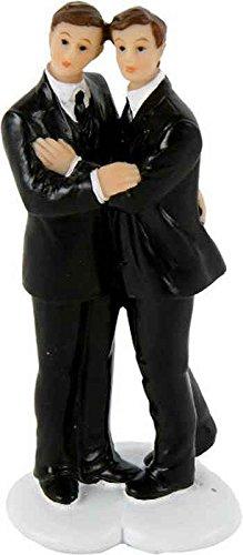 Hochzeitspaar Männer, 11 cm - Brautpaar für Torte, Hochzeitsdekoration
