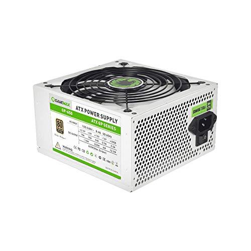 GAMEMAX GP650 Bianco Alimentatore ATX per PC Desktop da Gaming 650 Watt 80 Plus Bronzo (Efficienza 85{1f77692cd6c71b3ede5ff746c4ea59bc6225d4c2343ac391e2d424221bc775fb}) PFC Attivo Ventola 140mm Silenziosa Power Supply
