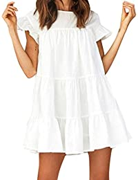 JYC Verano Falda Larga,Vestido De La Camiseta Encaje,Vestido Elegante Casual,Vestido Fiesta Mujer…