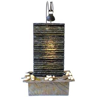 Zimmerbrunnen Feng Shui in Polyresin mit Scheinwerfer