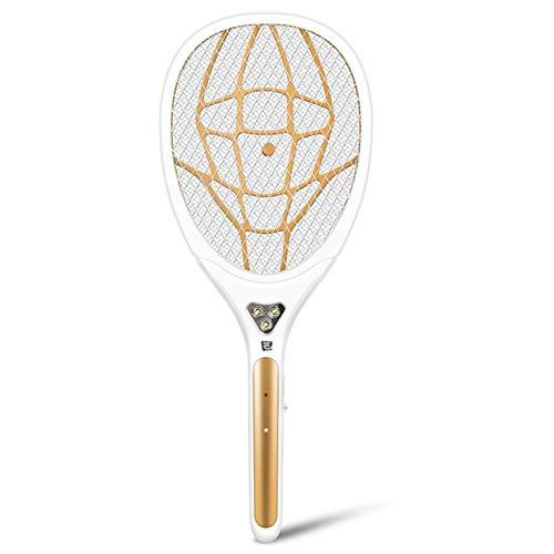 GL-home Elektrischer Moskitofliegen Bugs Swatter Zapper Bat Schläger, Schädlinge Insektenbekämpfungskiller abweisend, wiederaufladbare LED-Beleuchtung Doppelschichten Mesh-Schutz