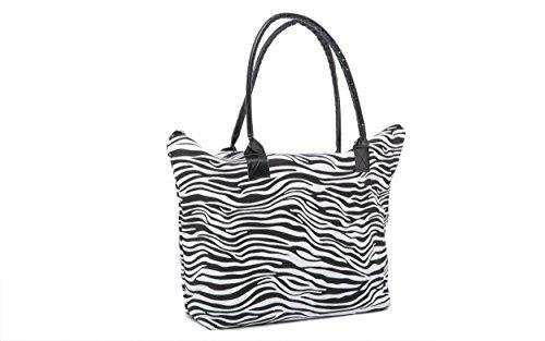 Ladies Spiaggia Borsa a tracolla stampa animalier e piccolo animale stampa trousse SET Reticolo della zebra