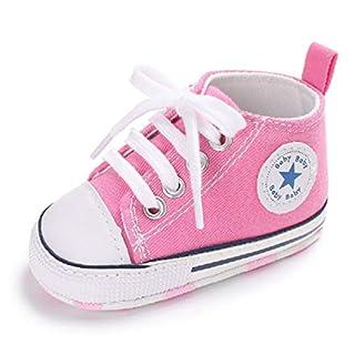 Auxma Niedlich Kind Baby Säugling Junge Mädchen weiche Sohle Kleinkind Schuhe Leinwand Sneak (0-6 Monat, Rosa)