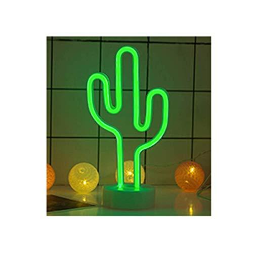Led Weihnachtsbeleuchtung Ohne Kabel.Lemon Tree Sl Lámpara Neón Led De Decoración Diseño Cactus Tamaño 30x15cm Luz De Noche Neon Led Cactus